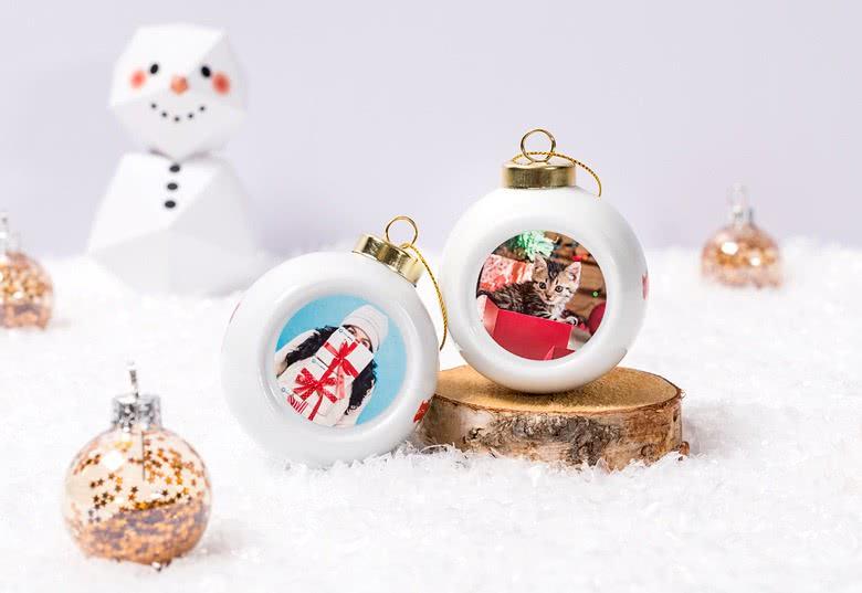 Weihnachtskugel personalisiert