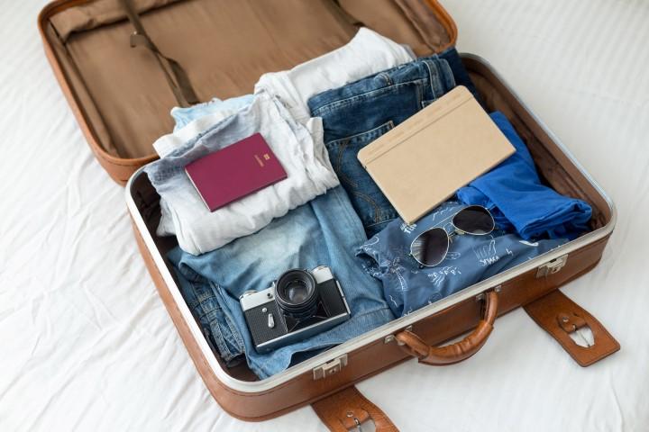 Voller Reisekoffer