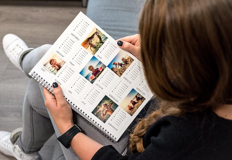 Notizbuch Kalender personalisierbar mit Fotos