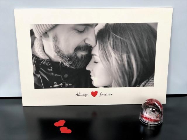Eigenes Foto auf Holz zum Valentinstag