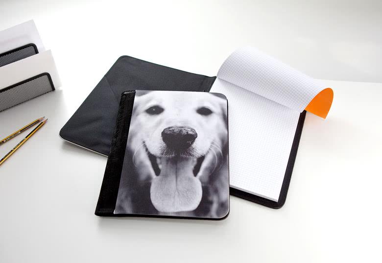Konferenzmappe personalisiert mit Foto Hund