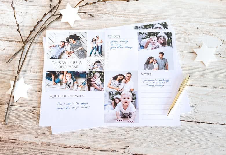 Papier-Schreibunterlage personalisiert mit Fotos
