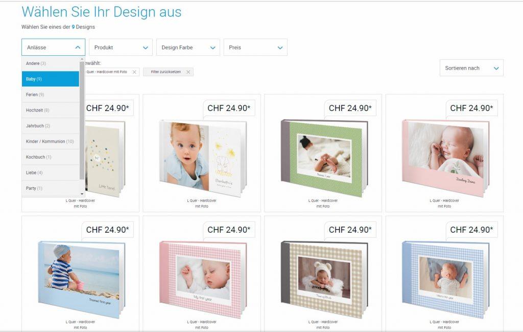 Fotobuch-Design auswählen
