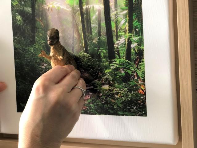 Foto-Leinwand mit Dino
