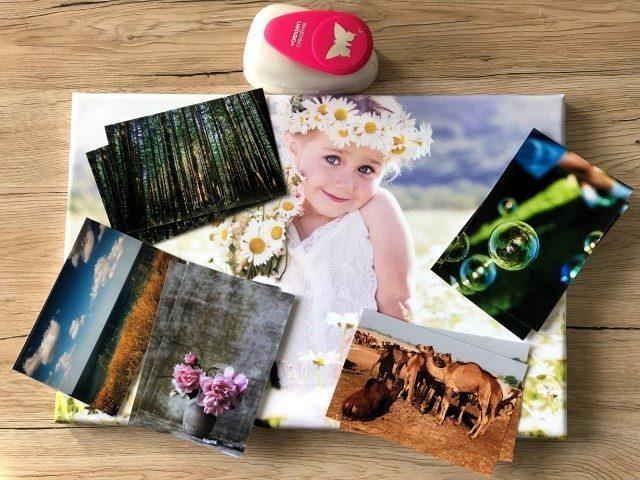 Foto-Leinwand mit Fotoabzügen aufpeppen