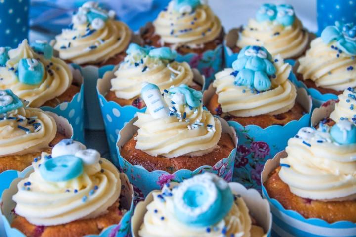 Dekorierte Cupcakes Babyparty