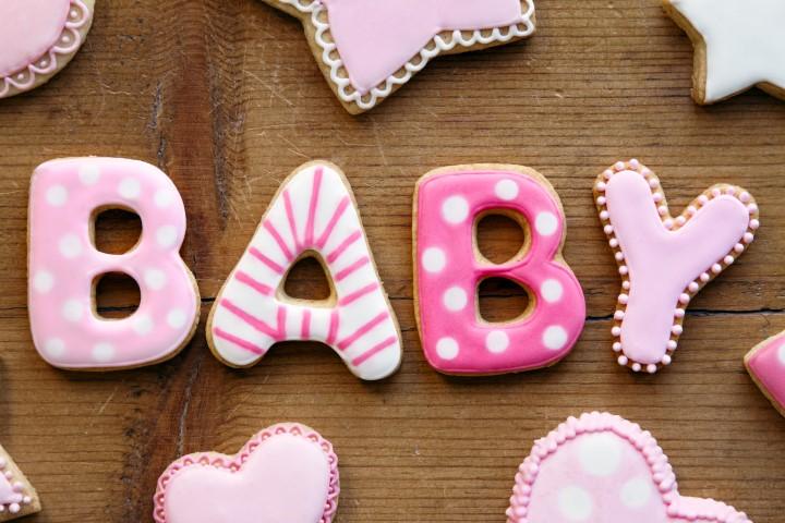 Kekse dekoriert für Babyparty