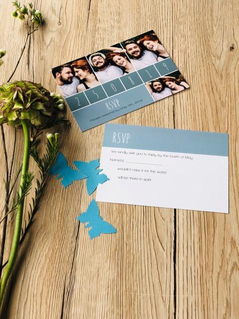 Antwortkarte personalisiert mit Foto