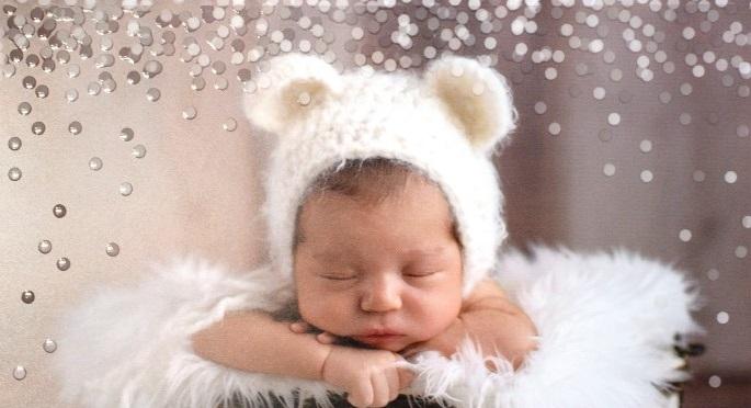 Babyfoto mit Glanzeffekt