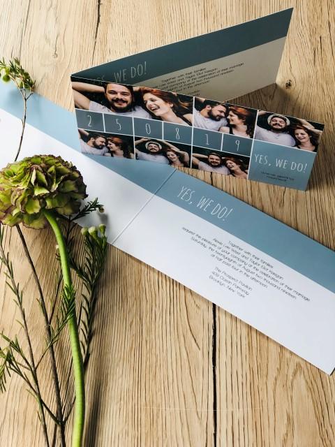 Falt-Einladungskarte Hochzeit
