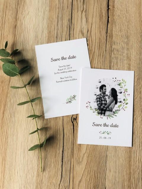 Hochzeiskarte Save the Date personalisiert mit Foto