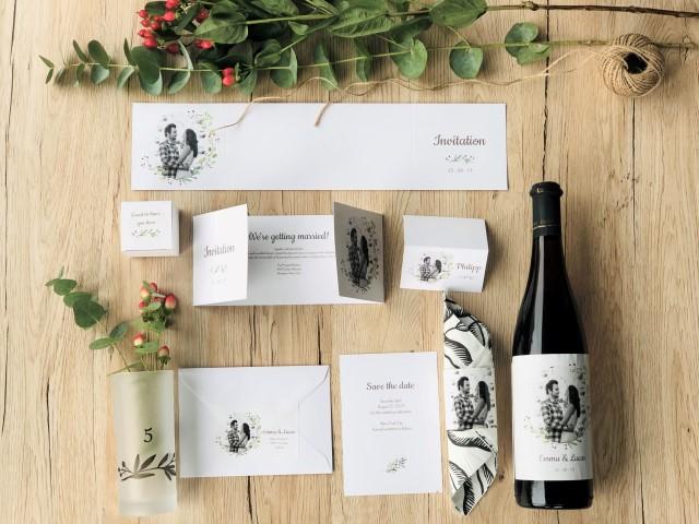 Hochzeitskarten und Hochzeitsdeko personalisiert