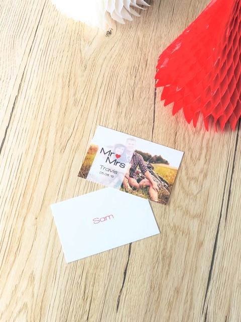 Tischkarte personalisiert mit Foto