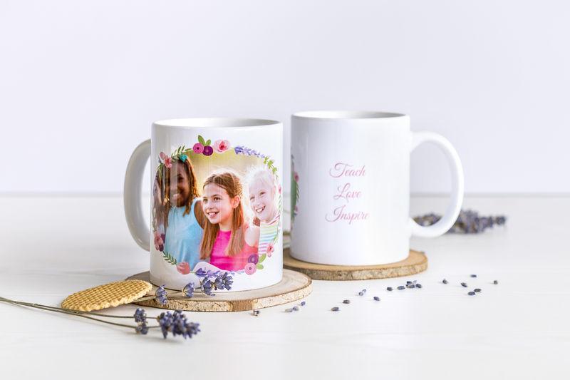 Fototasse personalisiert als Geschenk für Lehrer zum Ende des Schuljahrs
