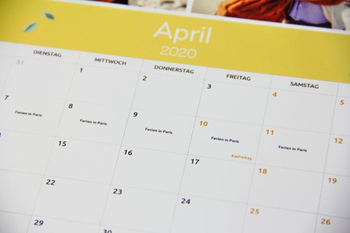 Terminkalender selbst gestalten