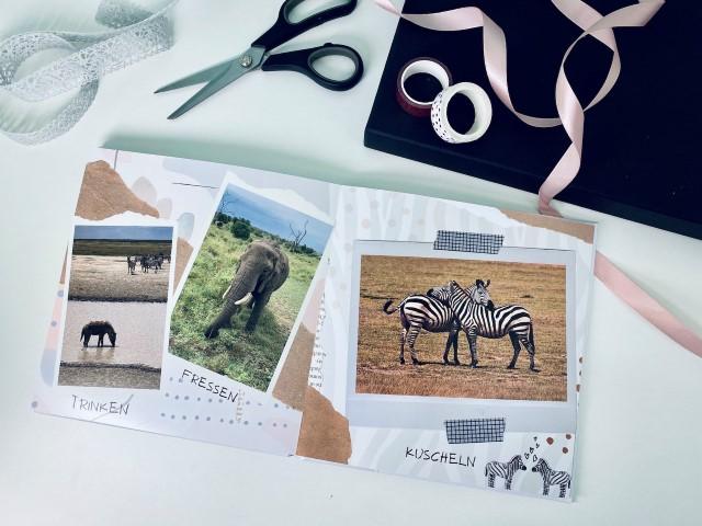 Personalisiertes Kinderbuch mit wilden Tieren