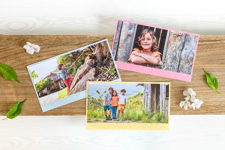 Süsse Postkarten in verschiedenen Formaten