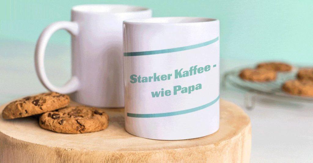Tasse mit Spruch zum Vatertag