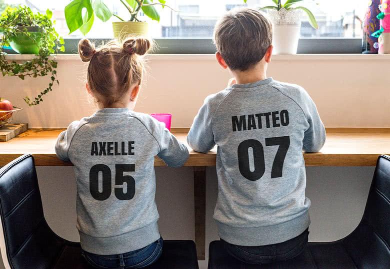 Personalisiertes Sweatshirt zum Schulanfang