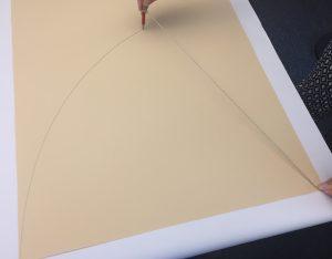 Fabrication d'un cornet d'école pour la rentrée - étape 2