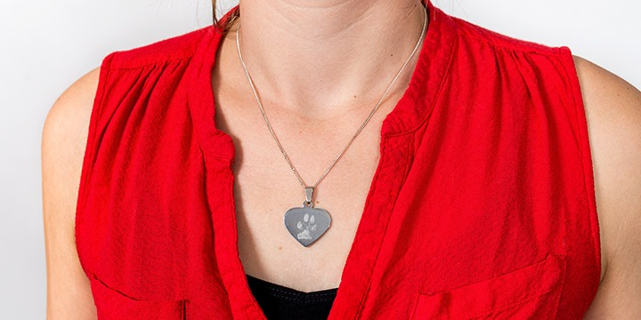 Pendentif photo en forme de coeur