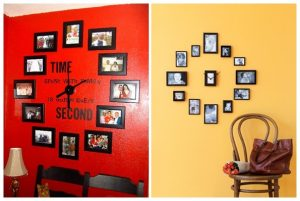 Horloge murale avec photos