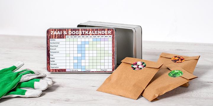 Boîte à biscuits personnalisée avec kit semis