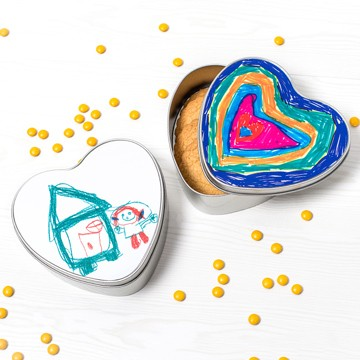 Boîtes à biscuits en forme de coeur