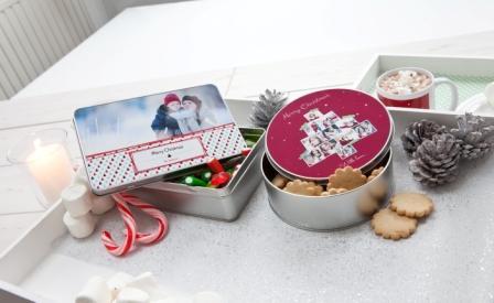 Boîte à biscuits avec photo