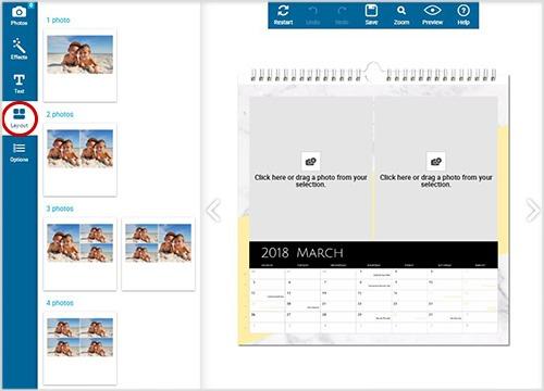 Réalisation d'un calendrier photo personnalisé