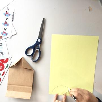 Bricolage calendrier de l'Avent hibou - étape 3