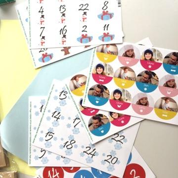 Stickers pour calendrier de l'Avent