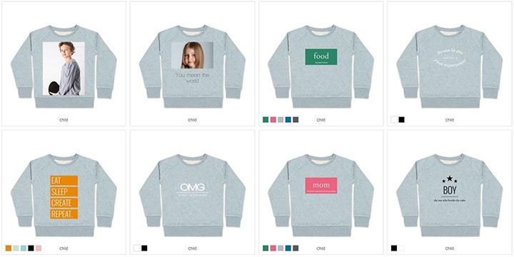 Verschiedene Sweatshirt-Designs