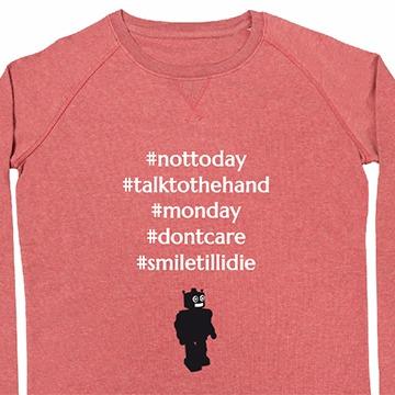 Sweatshirt mit Hashtags