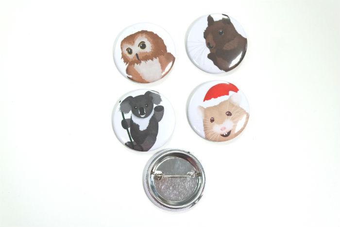 Badges photo animaux