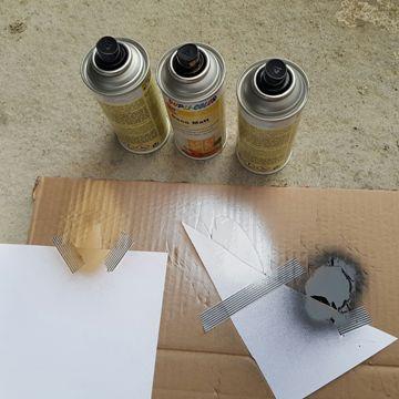 Bricolage avec bombes de peinture
