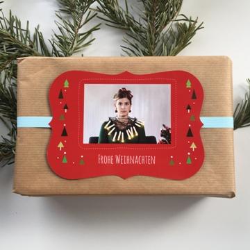 Emballage cadeau de Noël avec photo