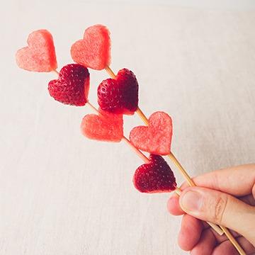 Fruchtspiessli Herzform