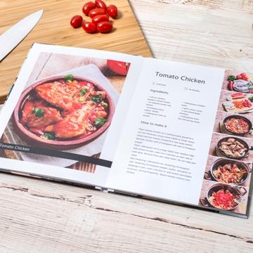 Pages intérieures du livre de cuisine personnalisé