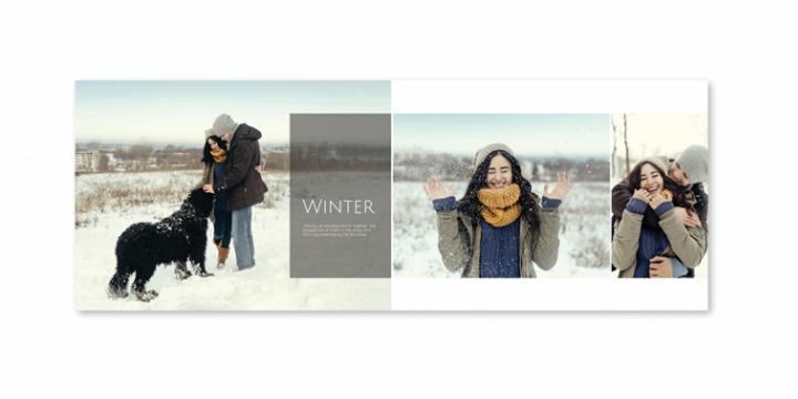 Photos hiver dans le livre de l'année