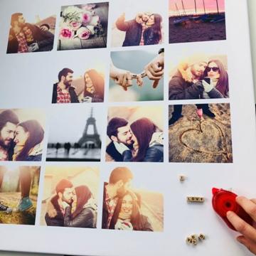 Poster pêle-mêle Saint-Valentin «I love you»