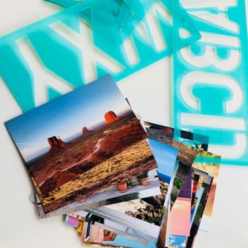 Photos et trace-lettres