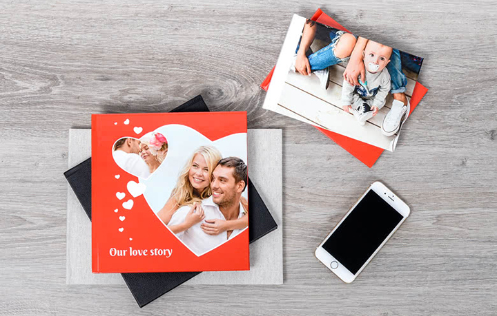 Verschiedene Fotobuch-Varianten