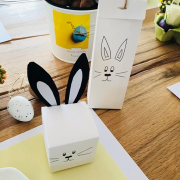 Boîtes à dragées lapin de Pâques