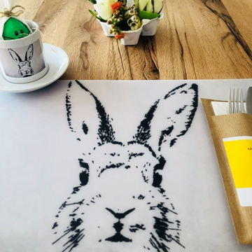 "Décoration de table ""lapin"""