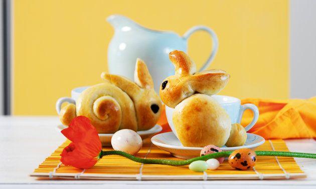 Tresse au beurre en forme de lapin