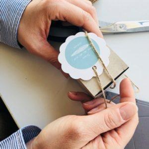 mariage-déco de table-décoration de table-boîte-autocollant-sticker-smartphoto
