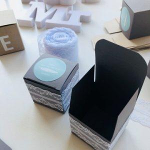 mariage-déco de table-décoration de table-boîte-dentelle-autocollant-sticker-smartphoto