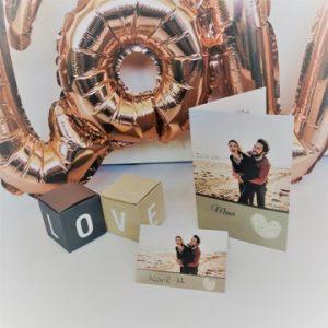 mariage-déco de table-décoration de table-boîte-love-amour-marque place-carte de table-carte de menu-smartphoto