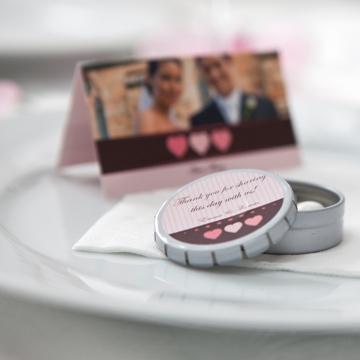 mariage - déco de table - marque-place - porte-nom - boîte à bonbon - smartphoto